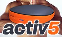 どこでもゲーム感覚でフィットネス!ポータブルワークアウトデバイス:Activ5