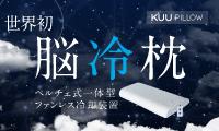 世界初! ペルチェ式一体型ファンレス脳冷枕 「KUU PILLOW」(クーピロー)